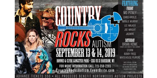 COUNTRY ROCKS AUTISM CONCERT - SEPTEMBER 13TH AND 14TH