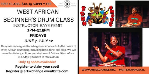 West African Beginner's drum class