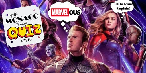 A MARVEL-OUS Themed QUIZ Night at the Monaco