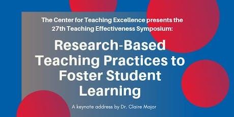 27th Teaching Effectiveness Symposim tickets