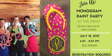 Monogram Paint Party tickets