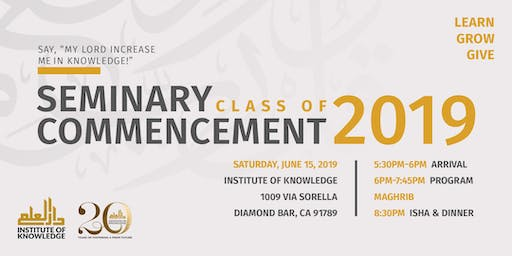 IOK Seminary Commencement - Class of 2019