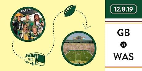 Saz's Shuttle to Lambeau - Green Bay Packers v. Washington Redskins 12.8.19 tickets
