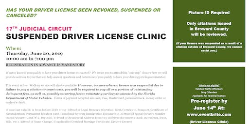 17TH JUDICIAL CIRCUIT SUSPENDED DRIVER LICENSE CLINIC