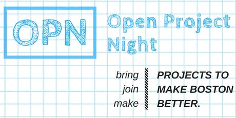 Open Project Night Boston: July 2019 tickets