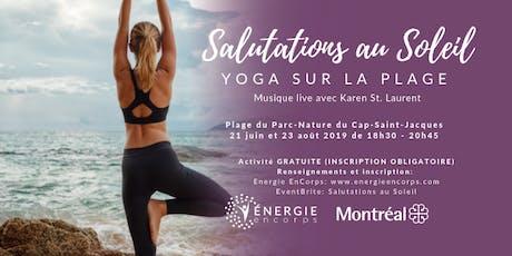Salutations au Soleil - Yoga sur la Plage 2019 tickets