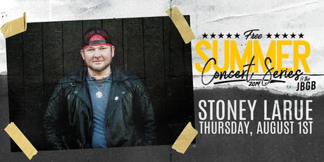 Stoney LaRue live at JBGB August 1st tickets