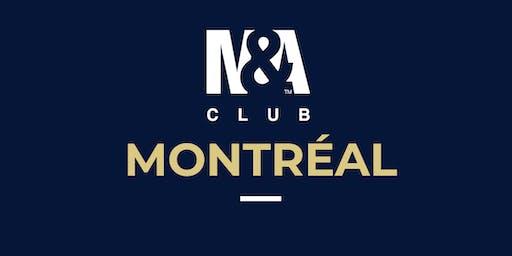 M&A Club Montréal : Réunion du 15 octobre 2019 / Meeting October 15th, 2019