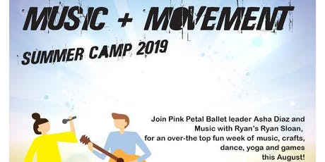 Music and Movement Summer Camp -ages 4-6 tickets