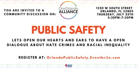 One Orlando Alliance Community Discussion on Public Safety tickets