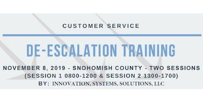 De-Escalation Training: For Frontline Service Provider (Nov 8 - Snohomish County)
