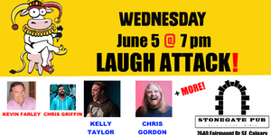 WEDNESDAY, June 5 @ 7 pm - LAUGH ATTACK @ Stonegate...