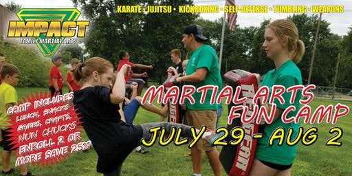 Impact Martial Arts Fun Camp