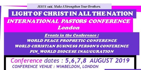 World Peace Prophetic Conference: Anointing of the Holy Spirit tickets