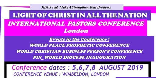 World Peace Prophetic Conference: Anointing of the Holy Spirit
