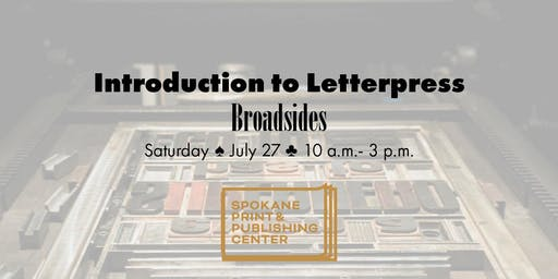 Intro to Letterpress: Broadside Posters