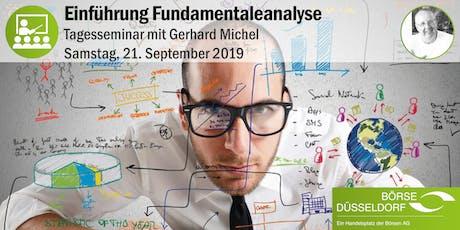 Einführung Fundamentalanalyse - Tagesseminar mit Gerhard Michel Tickets