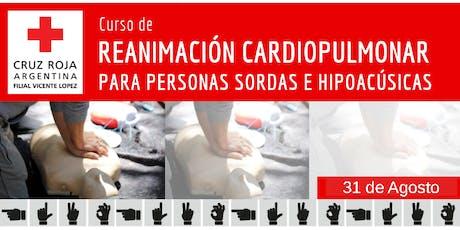 RCP para personas Sordas e Hipoacusicas 31 de Agosto (14 A 18HS) entradas
