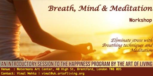 Breath, Mind and Meditation Workshop