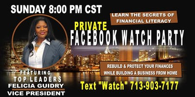 Entrepreneur Business FaceBook Watch Party -Galveston