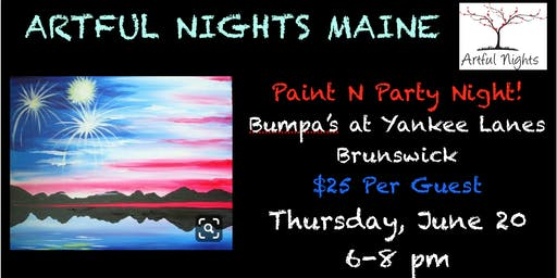 Paint N' Party at Bumpa's at Yankee Lanes, Brunswick