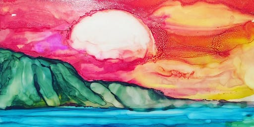 Paint with Alcohol ink Landscapes