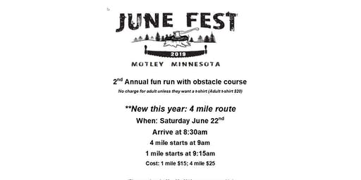 2nd Annual JuneFest fun run with obstacle course