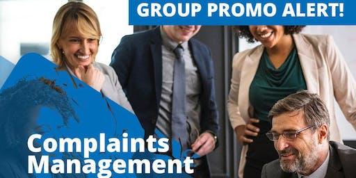 """COMPLAINTS MANAGEMENT """"Turning complains into compliments"""""""