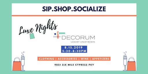 Sip.Shop.Socialize - Decorate Your Life With Style!