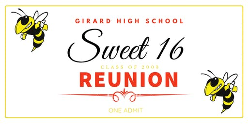 Girard High School's Class of 2003 Sweet 16 Reunion