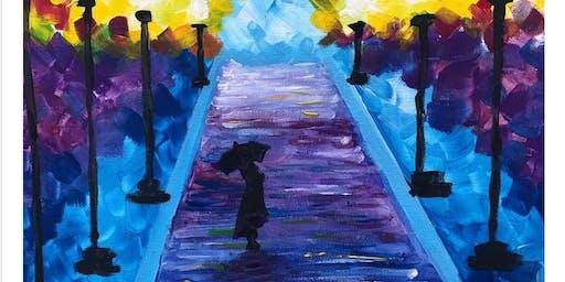 Midnight Boulevard - Beginner's Painting Class in Albert Park (BYO)