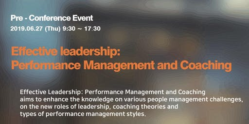 [Human Dynamic] Effective Leadership: Performance Management and Coaching