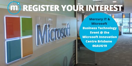 Microsoft Business Technology Event 06AUG19 tickets