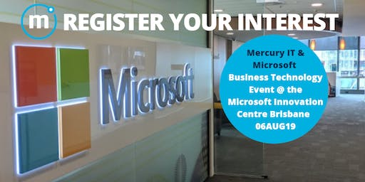 Microsoft Business Technology Event 20AUG19