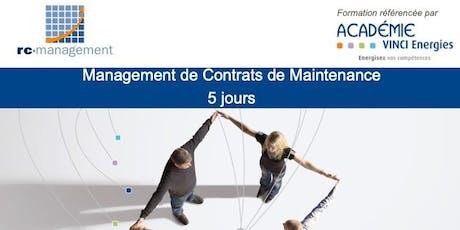 """ROISSY - Formation """"Management de Contrats de Maintenance"""" (VINCI Energies) - 25 au 29 novembre 2019 billets"""