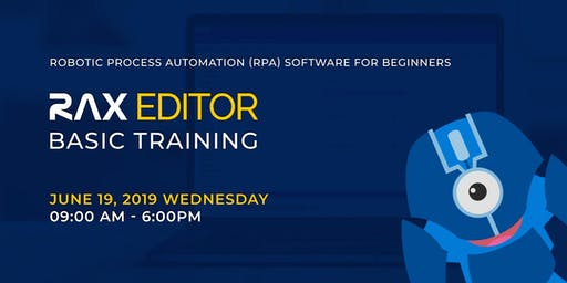Robotic Process Automation Training using RAX EDITOR for Beginners