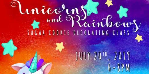 Unicorns & Rainbows Cookie Decorating Class