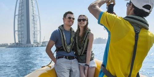 The Yellow Boats: 75-minute Palm Jumeirah & Atlantis Tour
