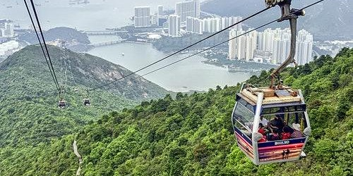 Ngong Ping Cable Car 1+1: One-Way Standard Cabin + One-Way Crystal Cabin