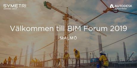 Symetri BIM Forum 2019 - Malmö biljetter