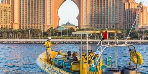 The Yellow Boats: 99-minute Palm Jumeirah, Burj Al Arab & Marina Tour