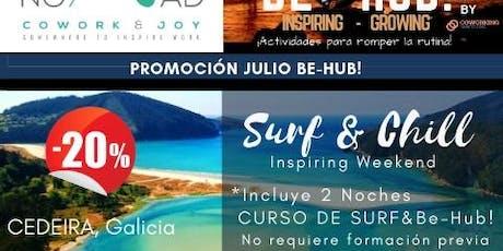 FIN DE SEMANA INSPIRING CON CURSO SURF  entradas
