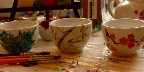 Chinese Teacups Painting Workshop