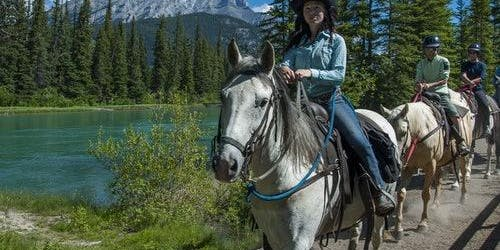 Bow River Horseback Ride from Banff