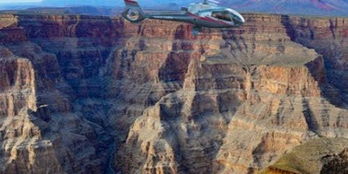 Grand Canyon Sunset Helicopter Landing