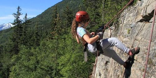 Rock Climbing, Rappelling and Ziplining Tour from Skagway
