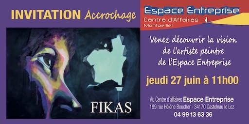 Fikas Accrochera Son Oeuvre À Espace Entreprise Montpellier
