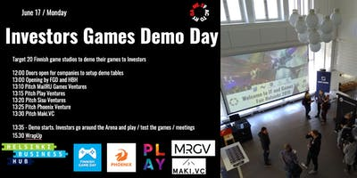 Investors Games Demo Day Helsinki