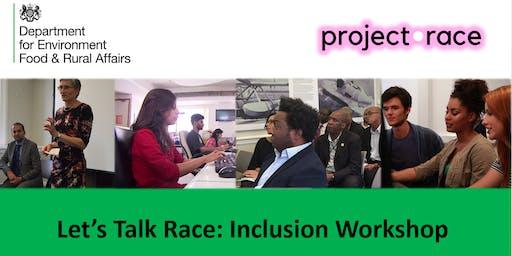 Let's talk race inclusion workshop for the SCS