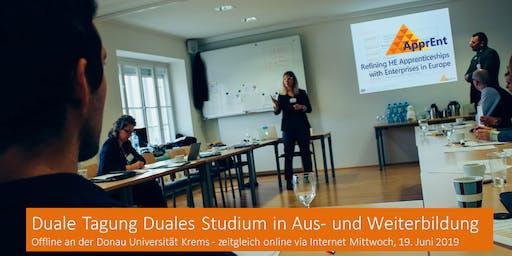 Duale Tagung Duales Studium in Aus- und Weiterbildung